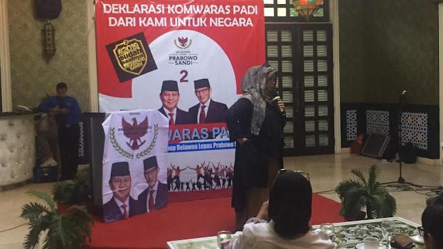 Komwaras PADI Deklarasi Dukung Prabowo-Sandiaga