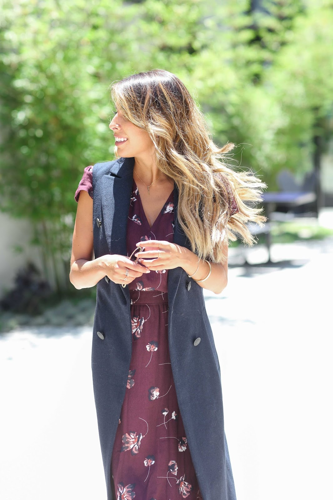 How to wear long vest, vest over dress look, Nordstrom Anniversary Sale, Rag and Bone