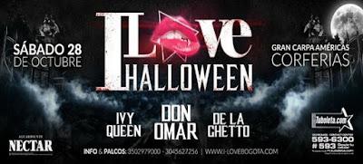 I LOVE Bogotá de Halloween