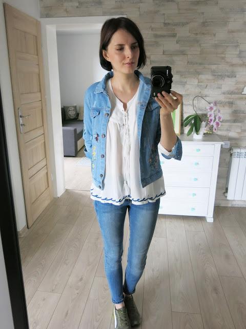 Biała haftowana bluzka | Zaful | Embroidered white blouse