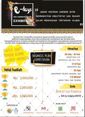 Lomba Bisnis Plan Nasional 2018 di UNIDA Gontor