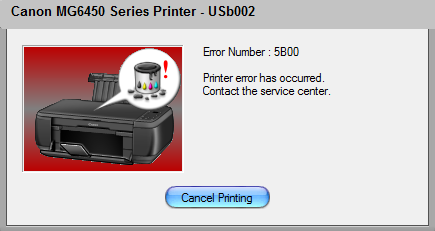 Canon MG6450 Error 5B00
