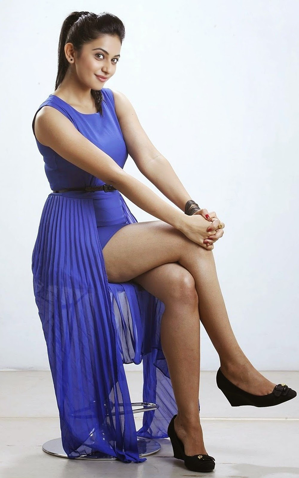 Rakul Preet In Hot Blue Top  Watch Continuously  Sexy