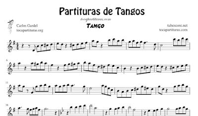 4 Partituras de Tangos El Choclo, Oblivion, Libertango y Por una Cabeza Tangos Populares