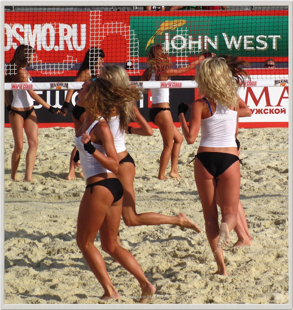 Barefoot Beach Volley Cheerleaders