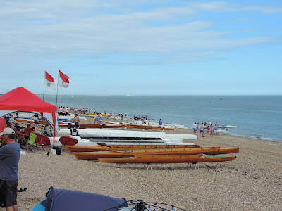 Southsea seafront boat rowing competitions