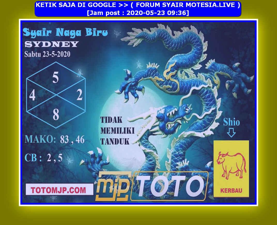 Kode syair Sydney Sabtu 23 Mei 2020 104