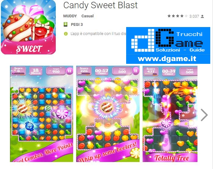 Trucchi Candy Sweet Blast Mod Apk Android v1.01
