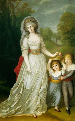 Auguste Wilhelmine Marie of Hesse-Darmstadt and her Youngest Children