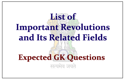 List of Important Revolutions in India