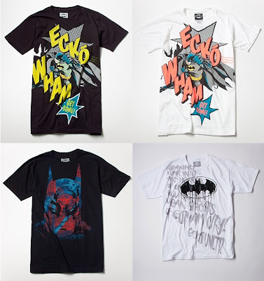 DC Comics x Ecko Unltd. Batman T-Shirt Collection - Black Wham, White Wham, City Run & White Mean Streets T-Shirts