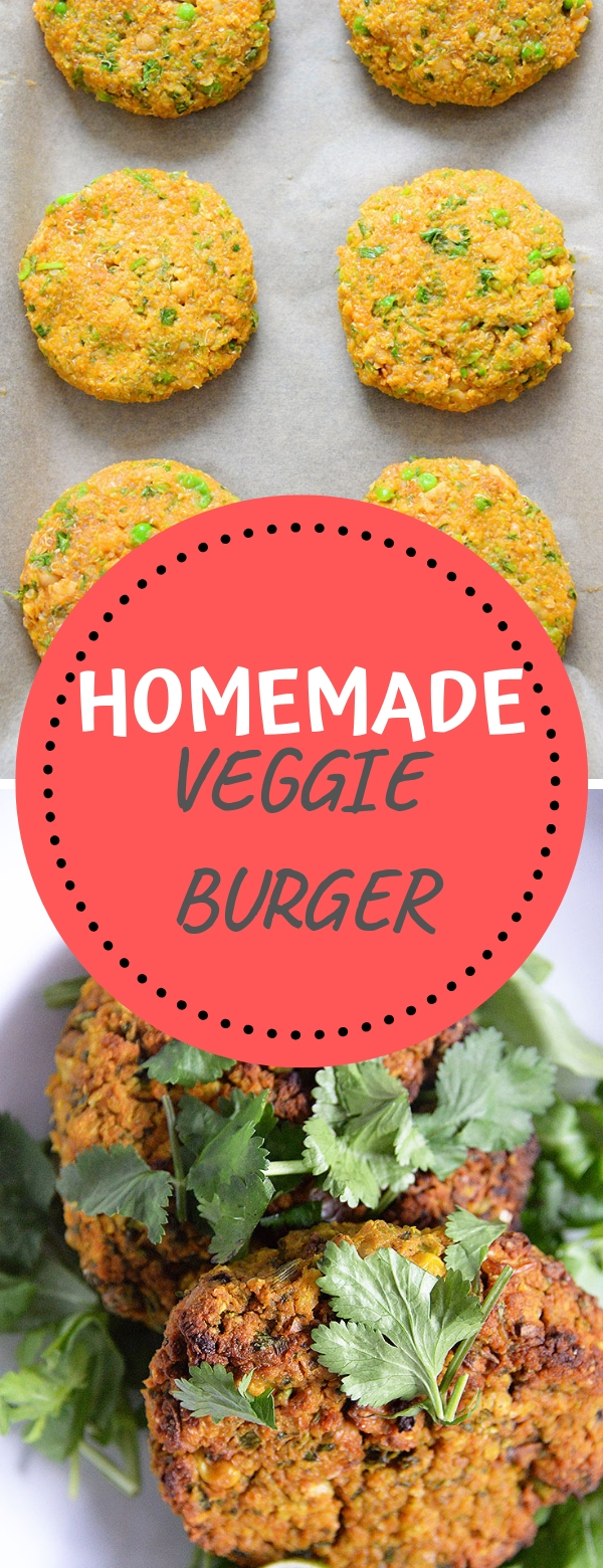 HOMEMADE VEGGIE BURGER #vegan #burger