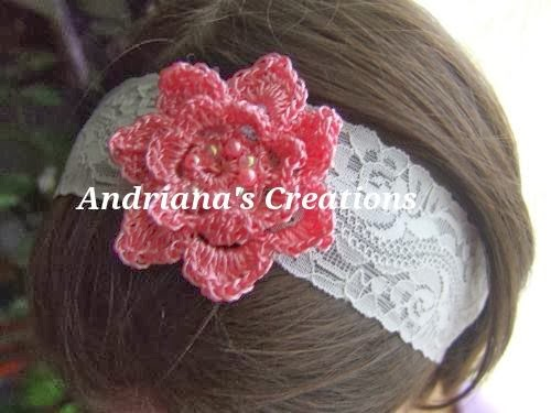 Crochet items and Andriana