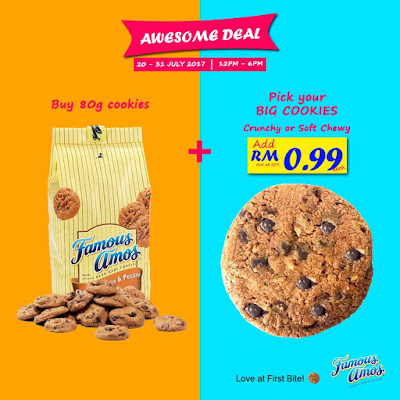 Famous Amos Malaysia Awesome Deal RM0.99 Big Cookies