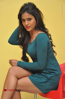Telugu Actress Prasanthi Stills in Green Short Dress at Swachh Hyderabad Cricket Press Meet  0065.JPG