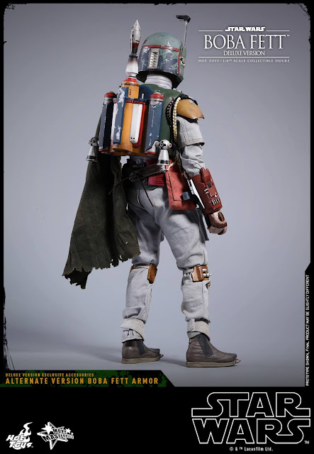 osw.zone Hot Toys Star Wars: Episode V The Empire Strikes Back 1/6. Scale Boba Fett (Deluxe Version) 12 inch Collectible Figure Preview