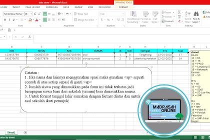 Cara Buat Script Imacros Excel Untuk Input data Siswa Baru dari Umum pada Aplikasi EMIS Tahun Pelajaran 2018/2019
