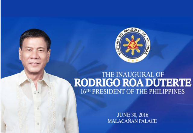 President Rodrigo Duterte Inauguration video now up