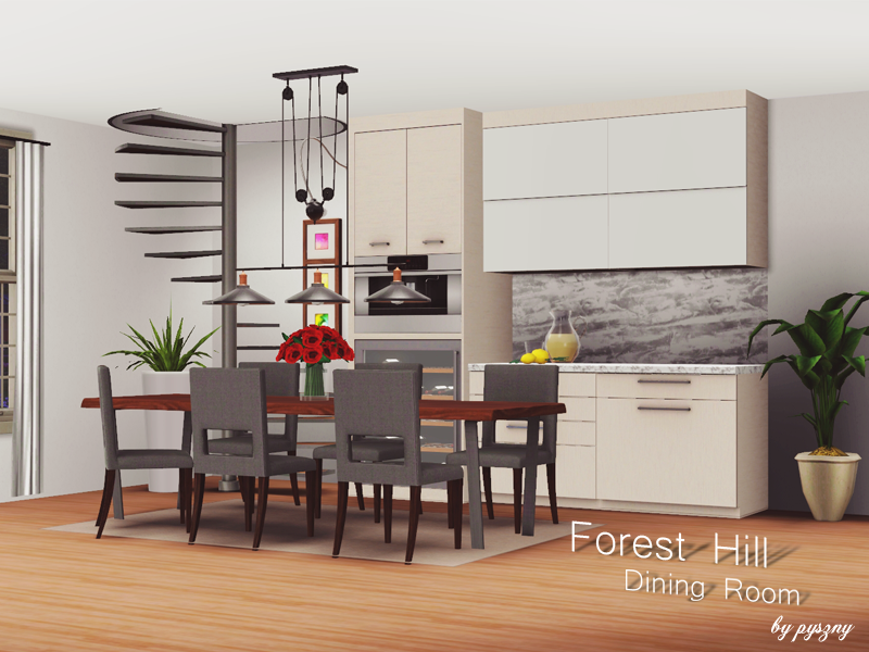Forest hill dining room for Sims 3 dining room ideas