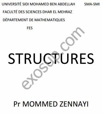 cours smia s1 algèbre 2 structures FSDM