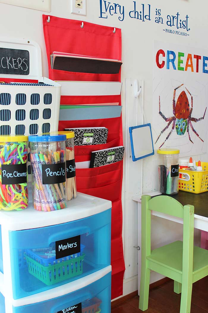 How to organize kids art supplies in a small space sunny day family - Organizing craft supplies in small space collection ...