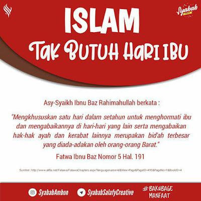 Hukum Peringatan Hari Ibu Menurut Islam