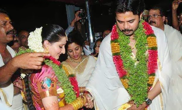 Sreesanth marriage with Bhuvneshwari: Bride and groom taking 7 Vows of wedding
