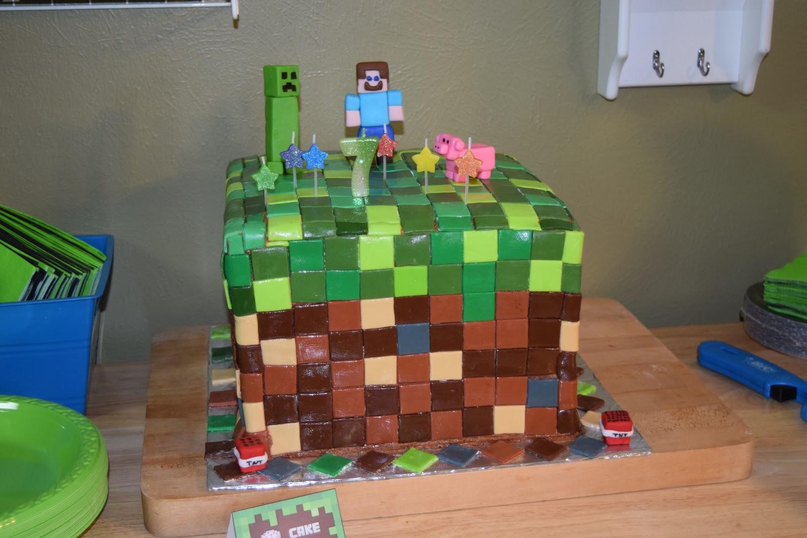 Faith Grace Giggles Minecraft Cake