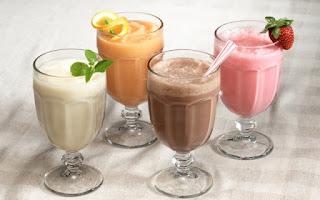 Batidos de leche y frutas