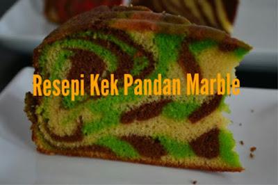 Resepi Kek Pandan Marble