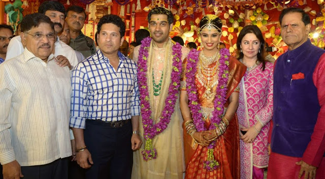 sachin tendulkar at nimmagadda prasad daughter swathi wedding