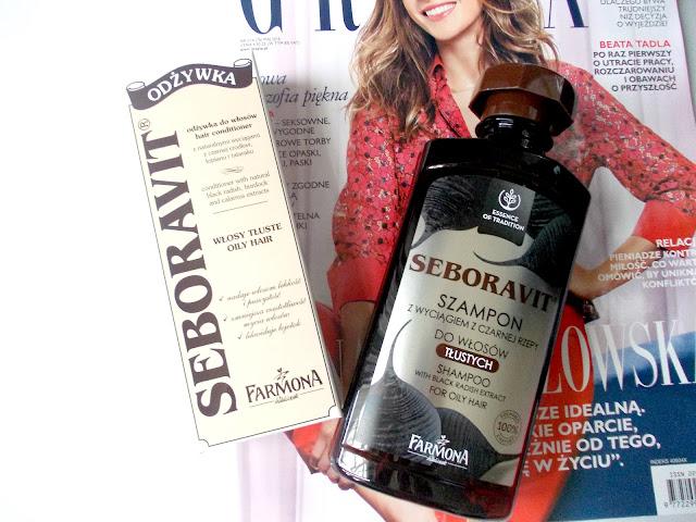 Szampon + Odżywka w walce z wypadaniem włosów.Seboravit.