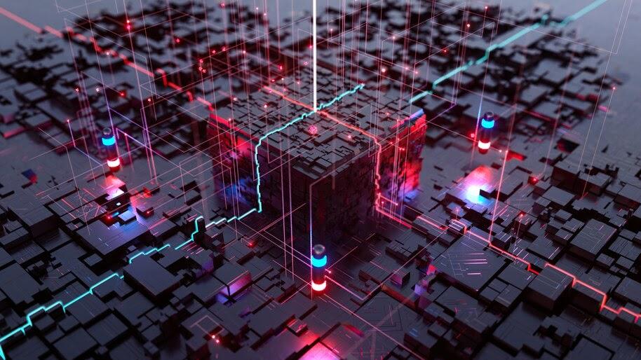 Digital Art, Cube, Technology, 4K, #6.1281