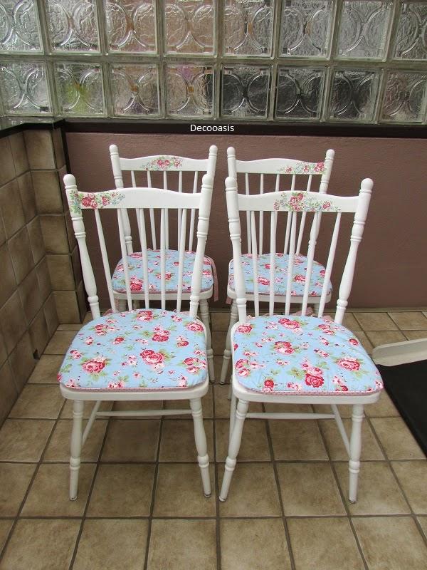 Deco Oasis Vier Wunderschöne Stühle Im Shabby Landhausstil