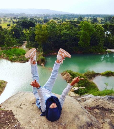 selfie di Telaga Biru Semin Gunung Kidul