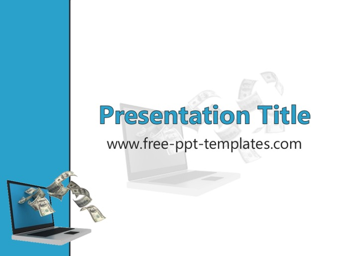 Making Money Online PPT Template - money background for powerpoint
