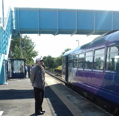 A Saturday train from Sheffield to Cleethorpes calling at the railway station in Brigg