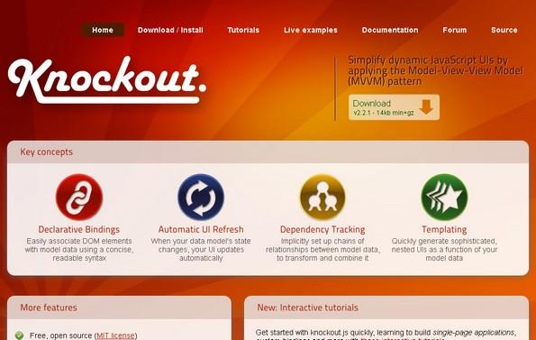 Knockout JS UI Library