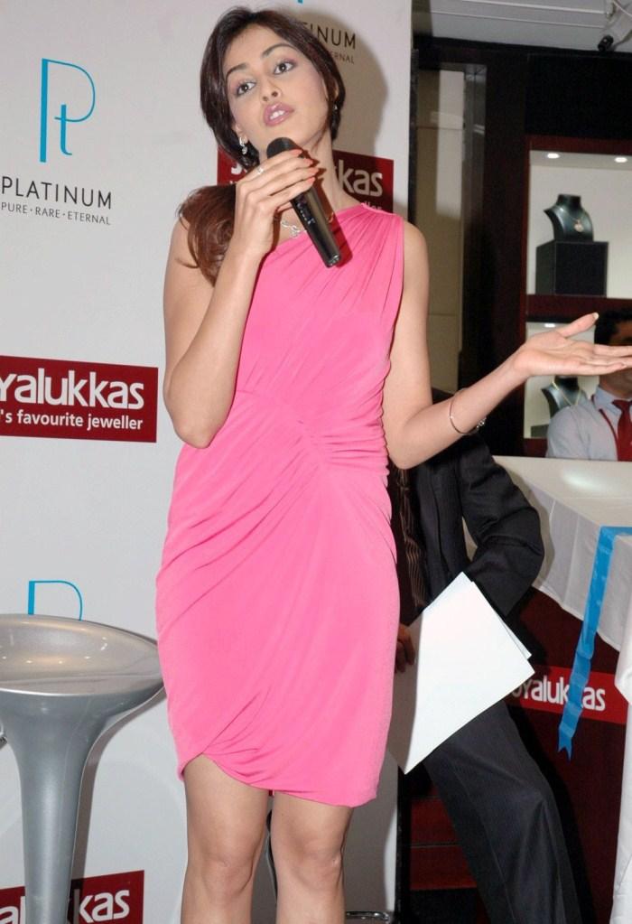 Genelia Hot in Pink Dress at JoyAlukkas Jewellery Launch ...