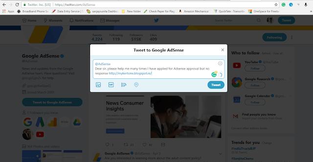 tweet to google adsense