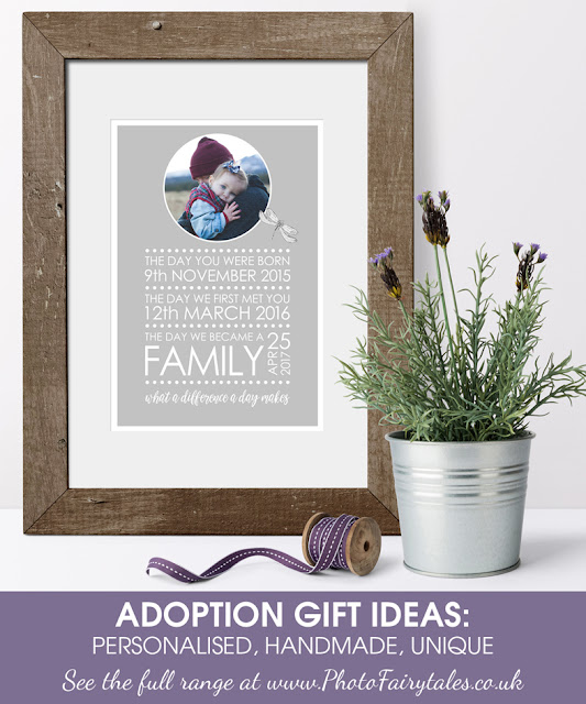 Personalised Adoption Gift Ideas from PhotoFairytales.co.uk