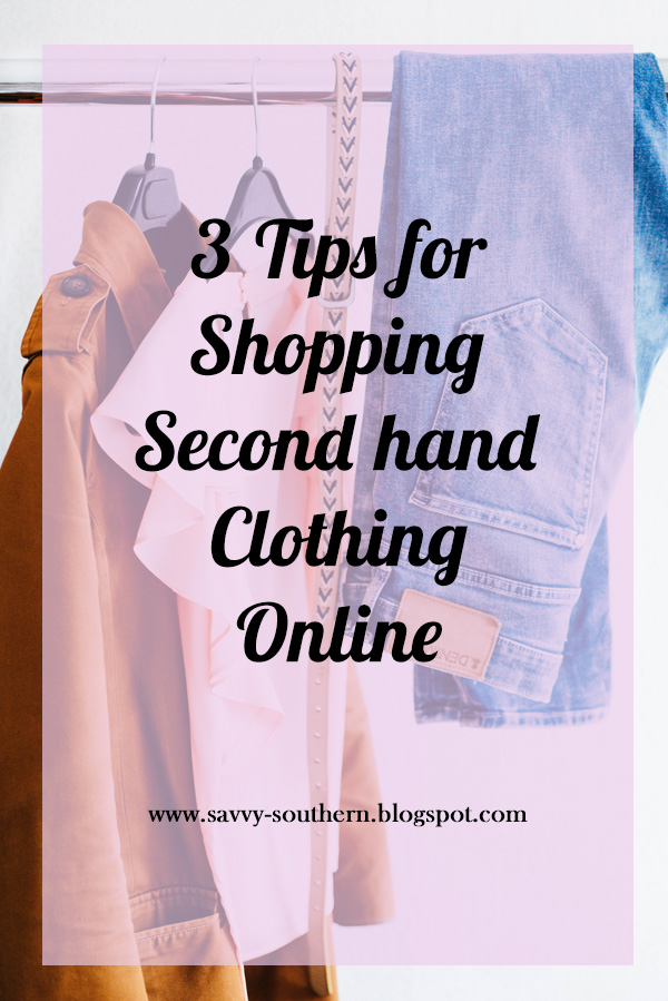 three tips for shopping second hand clothing online