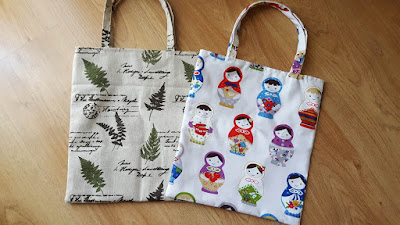 20-minutes lined tote bag tutorial and pattern