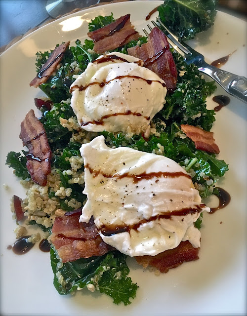 Poached Egg & Kale Salad