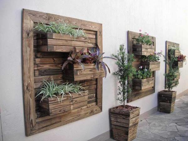 Jardines y terrazas con madera reciclada