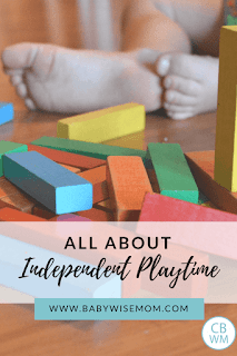 Independent playtime is when your baby or child plays alone for a predetermined amount of time. Read about the benefits and how to implement it in this post.