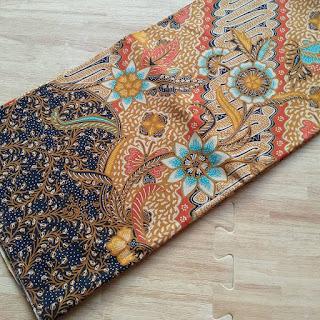 kain batik motif bunga parang kuning