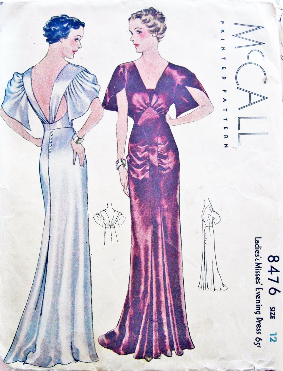 I'm a bit behind on getting this pattern posted but a little while back,  McCall 8476 sold at auction for a delightfully shocking $810.99.