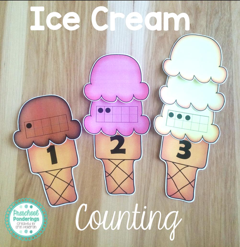 Preschool Ponderings: Ice Cream Activities for Preschool