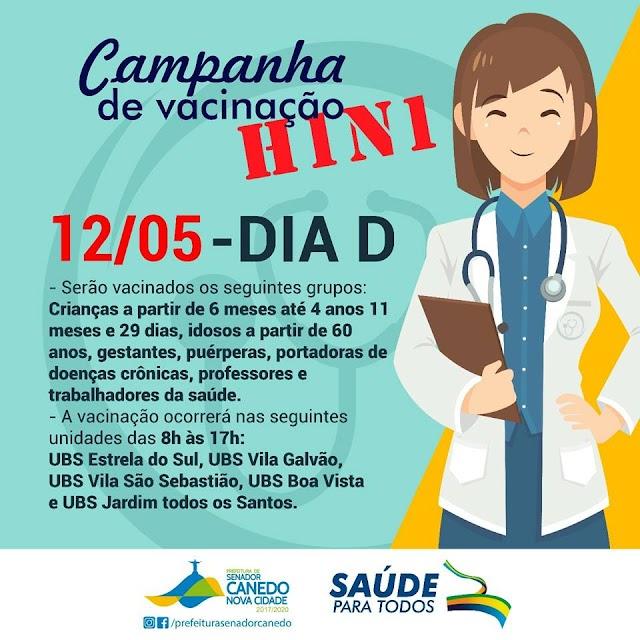 Senador Canedo: Campanha de Vacinação contra Influenza